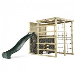 Área de juego de madera cubo de escalada Plum