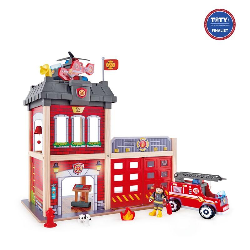 parque de bomberos juguete madera
