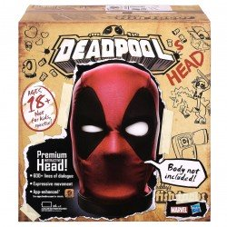 Deadpool cabeza interactiva marvel