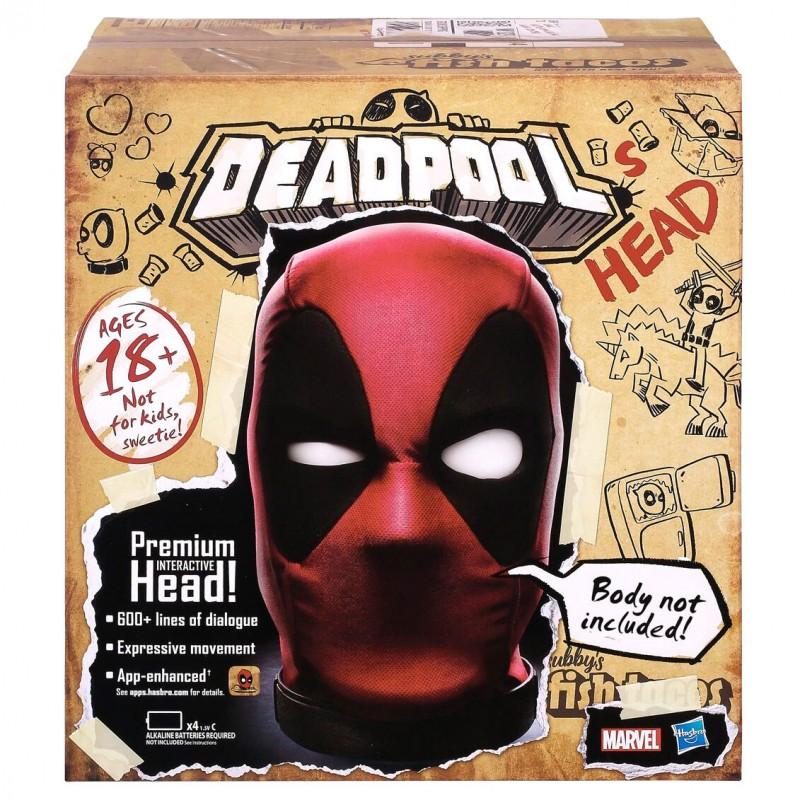 Deadpool cabeza interactiva marvel