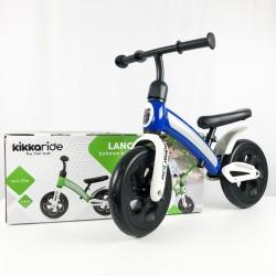 Bicicleta sin pedales azul caja