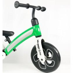 Bicicleta sin pedales verde