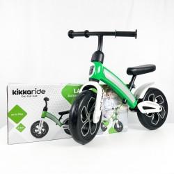 Bicicleta sin pedales verde detalle caja