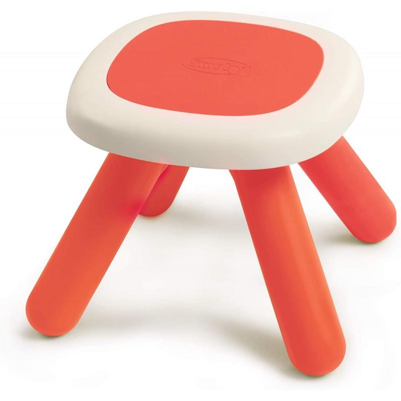 mesa taburete roja de smoby