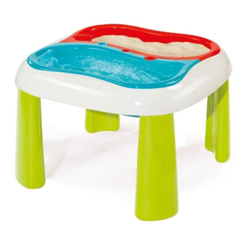 mesa arenero y agua