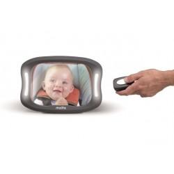 Espejo de coche para bebés con luz led