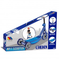 scooter azul caja juguemus