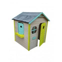 casita de madera colores